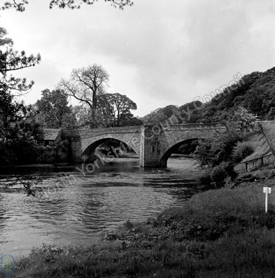 Bridge, Egglestone Abbey and River Tees
